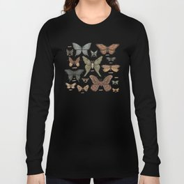 Butterflies and Moth Specimens Long Sleeve T-shirt