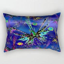 Lionfish Psychedelic Parade Rectangular Pillow