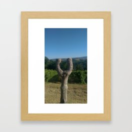 tree-slingshot Framed Art Print