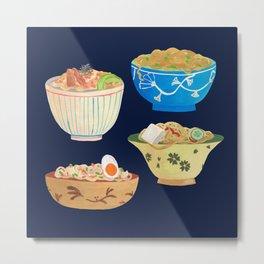 Noodle Bowls Metal Print