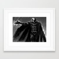 berserk Framed Art Prints featuring Wings of Jet Black by Jessica Bellamy