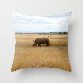 Rhino. Throw Pillow