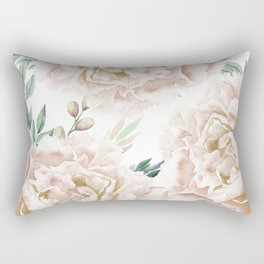 Pretty Blush Pink Roses Flower Garden Rectangular Pillow