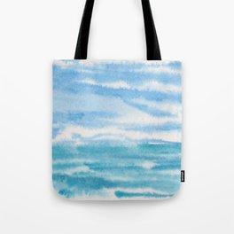 Light Bluegreen Seascape Tote Bag