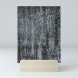 Monochrome schoolboard  Mini Art Print