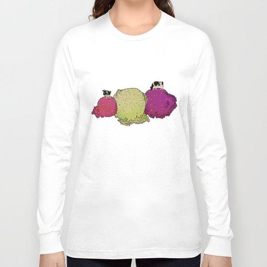 Cows love ice cream Long Sleeve T-shirt
