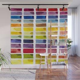 Watercolor Rainbow Tile Wall Mural