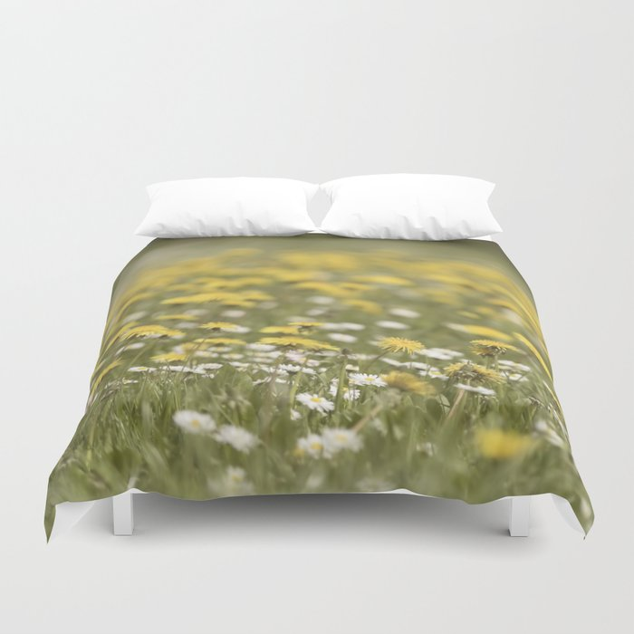 Meadow of happyness Spring flowers - Flower floral #Society6 Duvet Cover