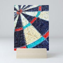 Dartboard target mosaic tile Mini Art Print