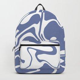 Soft Violet Liquid Marble Effect Design Backpack