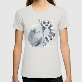 Ring-tailed Lemur Watercolor T-shirt