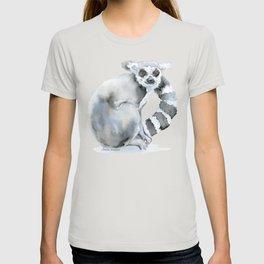 Ring-tailed Lemur Watercolor T-shirt