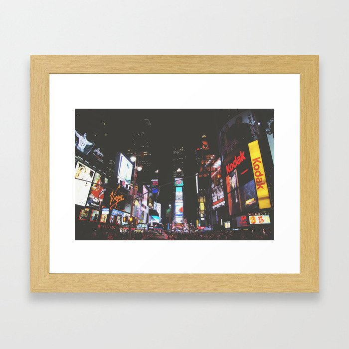 Evening Glow - Times Square Framed Art Print