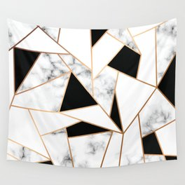 Black & White Marble Wall Tapestry