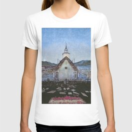 All Night Forever, Town and Cemetery by moonlight landscape by Harald Sohlberg T-shirt