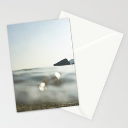 Clear Blue sea at Porthcurno, Cornwall Stationery Cards