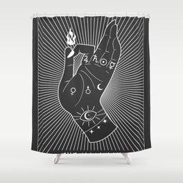Minimal Tarot Deck The Magician Shower Curtain