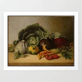 Balsam Apple and Vegetables, James Peale Art Print