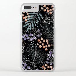 Berries and Leaves by Minikuosi Clear iPhone Case