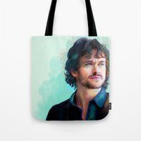 will graham Tote Bags featuring Will Graham by The Wayward Daughter