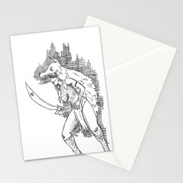 S1: Coyote.  Stationery Cards