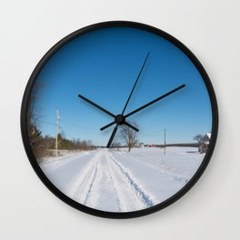 morning after the snowstorm Wall Clock
