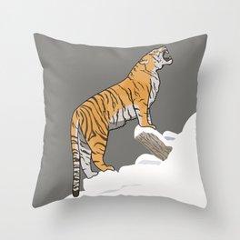 The Wild Ones: Siberian Tiger (illustration) Throw Pillow