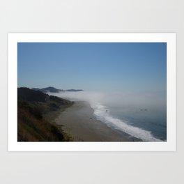 Oregon fog  Art Print