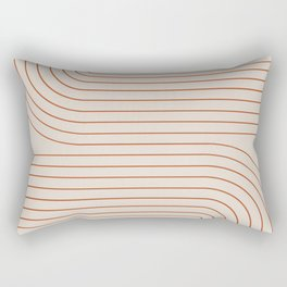 Minimal Line Curvature - Coral II Rectangular Pillow
