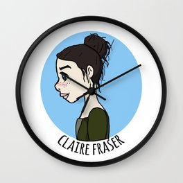 Claire Fraser Wall Clock