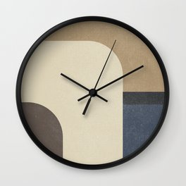 Vintage, contemporary art painting, geometric, abstract canvas for home decor, living room walls Wall Clock