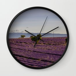 Lavender Fields In Provence South Of France Wall Clock