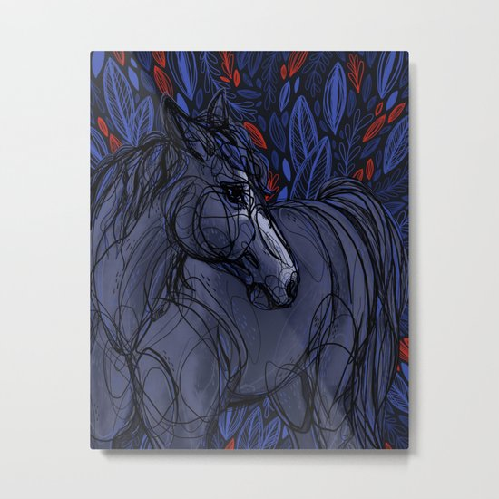 Valor the Mustang Metal Print