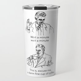 Dale Cooper: Damn fine cup of coffee Travel Mug