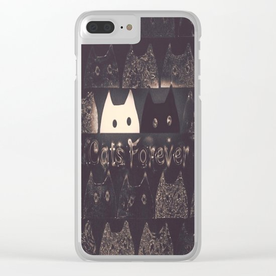cats-60 Clear iPhone Case