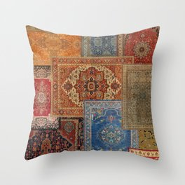 Antique Rugs 2 Throw Pillow