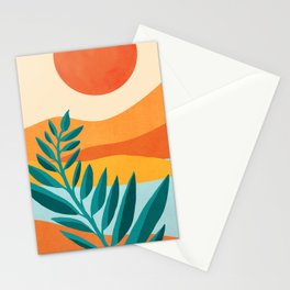 Mountain Sunset / Abstract Landscape Illustration Stationery Cards