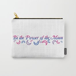 Bi the Power of the Moon   Falling Crescents Carry-All Pouch