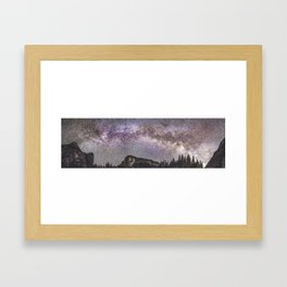 Yosemite Milky Way 1 Framed Art Print