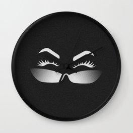 Lookin Over (black) Wall Clock