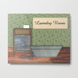 Vintage Laundry Room Metal Print