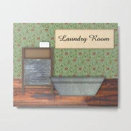 Vintage Laundry Room Metal Print