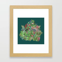 Into the Wild Emerald Forest Framed Art Print