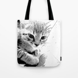 Indifferent Kitten Tote Bag