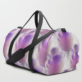 Feather tulips as misty pattern Duffle Bag