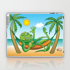 Lazy Iguana Summer on the Beach Laptop & iPad Skin