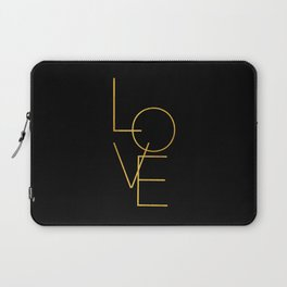LOVE / black and gold Laptop Sleeve