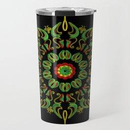 Mandala Reggae en la noche Travel Mug