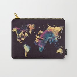 world map 79 yellow black Carry-All Pouch