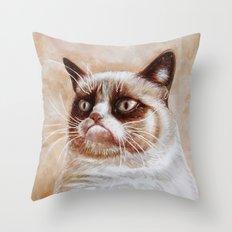 Grumpycat Throw Pillow